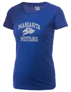 Margarita Middle School Mustangs  Russell Women's Campus T-Shirt