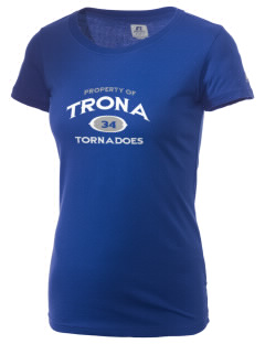 Trona High School Tornadoes  Russell Women's Campus T-Shirt
