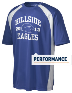 Hillside High School Eagles Men's Dry Zone Colorblock T-Shirt