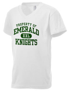 Emerald Middle School Knights Kid's V-Neck Jersey T-Shirt