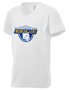 Meridian Elementary School Mountain Lions Kid's V-Neck Jersey T-Shirt