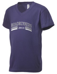 Chaparral Continuation High School Roadrunners Kid's V-Neck Jersey T-Shirt