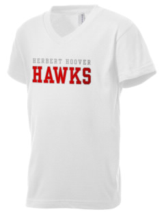 Herbert Hoover Middle School Hawks Kid's V-Neck Jersey T-Shirt