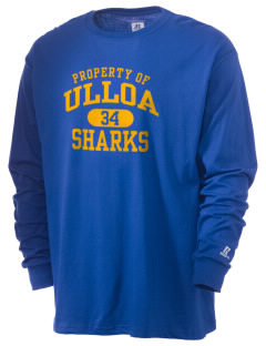 Ulloa Elementary School Sharks  Russell Men's Long Sleeve T-Shirt