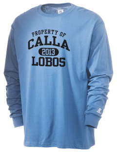 Calla Continuation High School Lobos  Russell Men's Long Sleeve T-Shirt