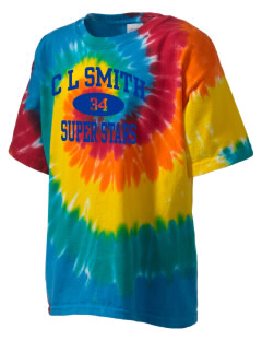 C L Smith Elementary School Super Stars Kid's Tie-Dye T-Shirt