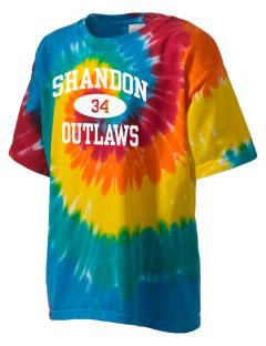 Shandon Senior High School Outlaws Kid's Tie-Dye T-Shirt