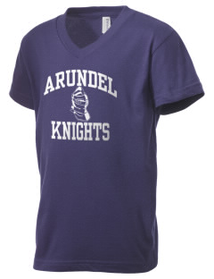 Arundel Elementary School Knights Kid's V-Neck Jersey T-Shirt