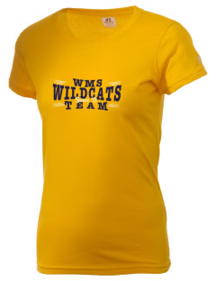 Westborough Middle School Wildcats  Russell Women's Campus T-Shirt