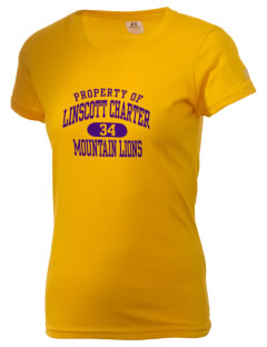 Linscott Charter School Mountain Lions  Russell Women's Campus T-Shirt