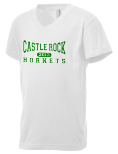 Castle Rock Elementary School Hornets Kid's V-Neck Jersey T-Shirt