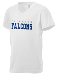 Fairmont Elementary School Falcons Kid's V-Neck Jersey T-Shirt