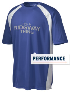 Ridgway School Bluejays Men's Dry Zone Colorblock T-Shirt
