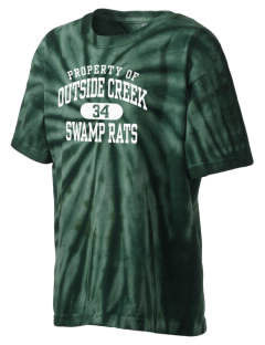 Outside Creek Elementary School Swamp Rats Kid's Tie-Dye T-Shirt