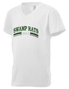 Outside Creek Elementary School Swamp Rats Kid's V-Neck Jersey T-Shirt