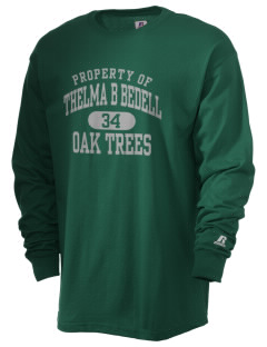 Thelma B Bedell Elementary School Oak Trees  Russell Men's Long Sleeve T-Shirt