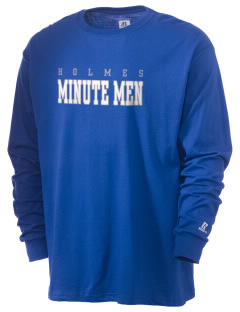 Holmes Junior High School Minute Men  Russell Men's Long Sleeve T-Shirt