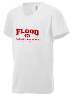 Flood Middle School Panthers Kid's V-Neck Jersey T-Shirt