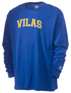 Vilas School Elementary Broncos - High School Raiders  Russell Men's Long Sleeve T-Shirt