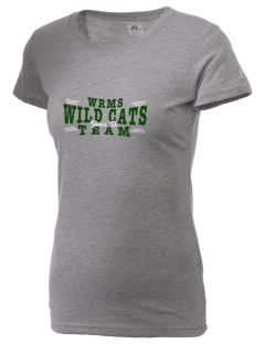 Wayne Ruble Middle Sdhool Wild Cats  Russell Women's Campus T-Shirt