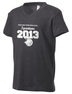 Frank Ward Strong Middle School Spartans Kid's V-Neck Jersey T-Shirt