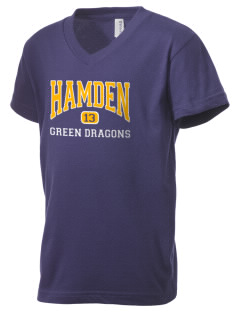 Hamden High School Dragons Kid's V-Neck Jersey T-Shirt