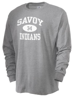 Savoy Elementary School Indians  Russell Men's Long Sleeve T-Shirt