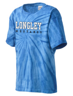 Longley Elementary School Mustangs Kid's Tie-Dye T-Shirt