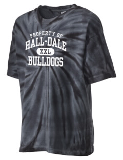 Hall-Dale High School Bulldogs Kid's Tie-Dye T-Shirt