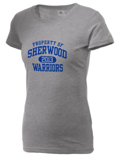 Sherwood High School Warriors  Russell Women's Campus T-Shirt