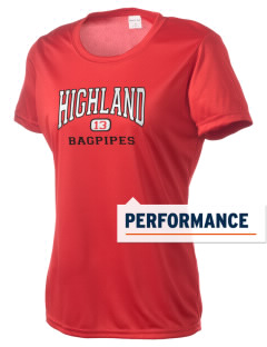 Highland Elementary School Bagpipes Women's Competitor Performance T-Shirt