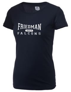 Friedman Middle School Falcons  Russell Women's Campus T-Shirt