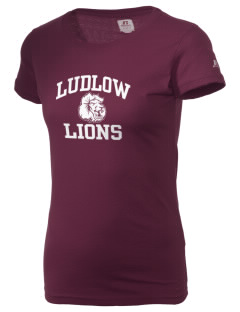 Ludlow Senior High School Lions  Russell Women's Campus T-Shirt