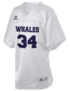 Cyrus Peirce Middle School Whales Russell Kid's Replica Football Jersey