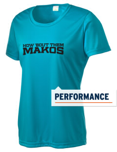 Vista del Mar School Makos Women's Competitor Performance T-Shirt