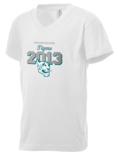 Twin Oaks High School Tiger Kid's V-Neck Jersey T-Shirt