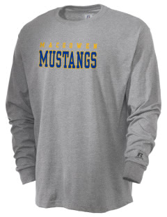 MacGowen Elementary School Mustangs  Russell Men's Long Sleeve T-Shirt