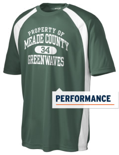 Meade County High School Greenwaves Men's Dry Zone Colorblock T-Shirt