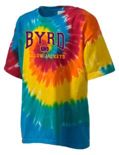 Byrd High School Yellow Jackets Kid's Tie-Dye T-Shirt