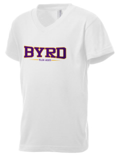 Byrd High School Yellow Jackets Kid's V-Neck Jersey T-Shirt