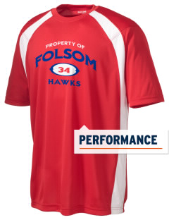 Folsom Junior High School Hawks Men's Dry Zone Colorblock T-Shirt