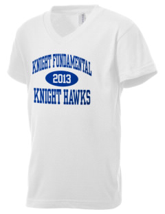 Knight Fundamental Academy Knight Hawks Kid's V-Neck Jersey T-Shirt