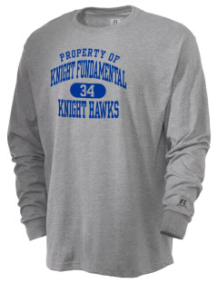 Knight Fundamental Academy Knight Hawks  Russell Men's Long Sleeve T-Shirt