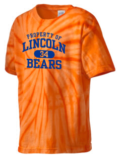 Lincoln Middle School Bears Kid's Tie-Dye T-Shirt