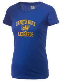 Livingston Avenue Elementary School Leopards  Russell Women's Campus T-Shirt