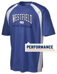 Westfield High School Blue Devils Men's Dry Zone Colorblock T-Shirt