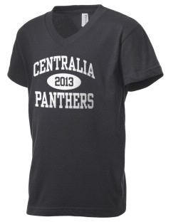 Centralia High School Panthers Kid's V-Neck Jersey T-Shirt
