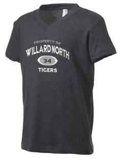 Willard North Elementary School Tigers Kid's V-Neck Jersey T-Shirt