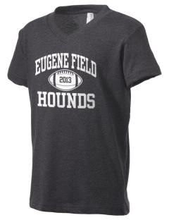 Eugene Field Elementary School Hounds Kid's V-Neck Jersey T-Shirt