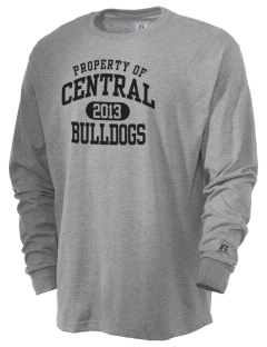Central Elementary School Bulldogs  Russell Men's Long Sleeve T-Shirt